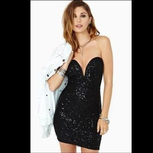 Nasty Gal Ottmill Jabez Black Sequin Dress